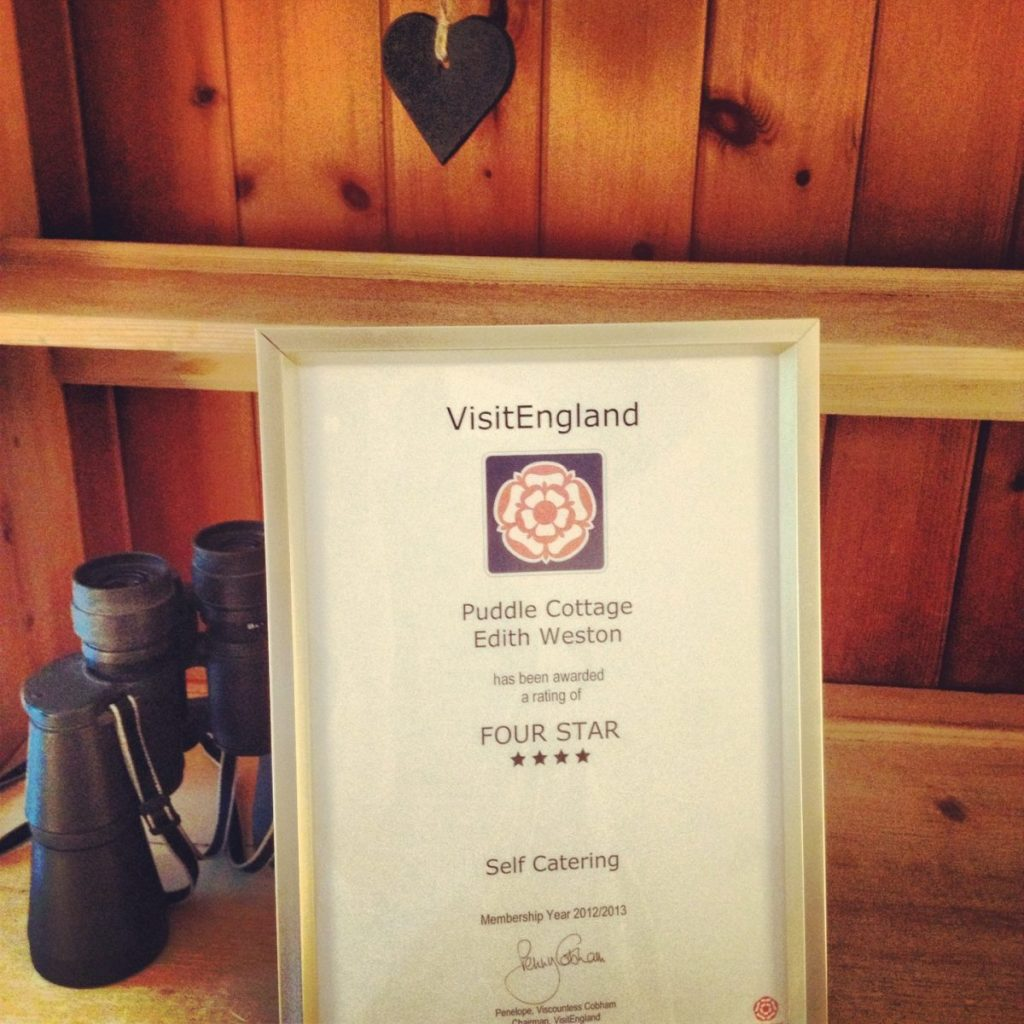 Puddle Cottage retains its 4 star status!